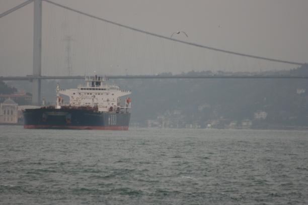 A ship en route to the Black Sea.
