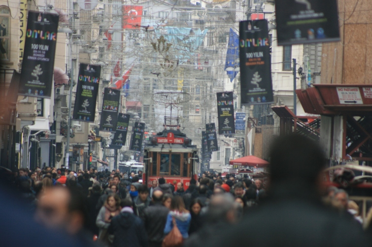 Istiklal Street, Istanbul is one happening place.